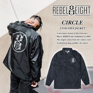 Rebel8 CIRCLE COACHES JACKET BLACK サークル コーチジャケット ブラック 黒 レベルエイト archrival