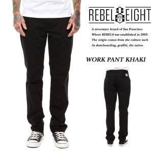 Rebel8 WORK PANTS BLACK ワークパンツ チノパン ブラック 黒 レベルエイト|archrival