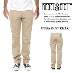 Rebel8 WORK PANTS KHAKI ワークパンツ チノパン カーキ ベージュ レベルエイト|archrival