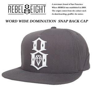 Rebel8 WOLD WIDE DOMINATION SNAPBACK CAP ATHLETIC HEATHER ワールド ワイド ドミテーション スナップバック キャップ ヘザー グレー レベルエイト archrival