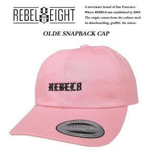 REBEL8 OLDE STRAPBACK CAP PINK オールディ ストラップバック キャップ ピンク レベルエイト|archrival