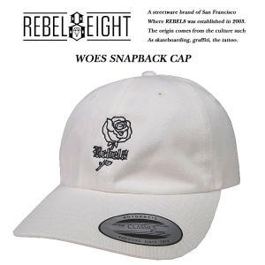 REBEL8 WOES STRAPBACK CAP WHITE ウォーズ ストラップバック キャップ ホワイト レベルエイト|archrival