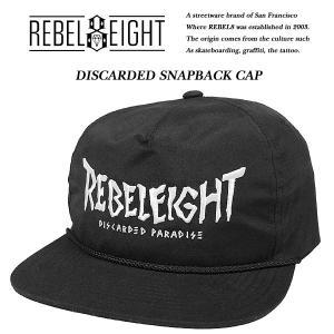 REBEL8 DISCARDED SNAPBACK CAP ディスケィデッド スナップバック キャップ レベルエイト|archrival
