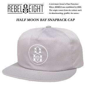 REBEL8 HALF MOON BAY SNAPBACK CAP ハーフムーン ベイ スナップバック キャップ レベルエイト|archrival