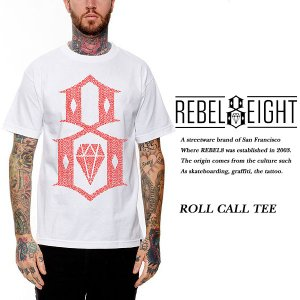 Rebel8 ROLL CALL TEE WHITE レベルエイト archrival