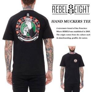 Rebel8 HAND MUCKERS BLACK TEE ハンド マッカーズ Tシャツ ブラック 黒 レベルエイト archrival