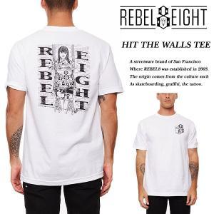 Rebel8 HIT THE WALLS TEE WHITE ヒット ザ ウォールズ 半袖Tシャツ ホワイト 白 レベルエイト archrival