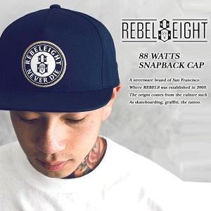 Rebel8 88 WATTS SNAPBACK CAP NAVY エイティエイト ワッツ スナップバック キャップ ネイビー 紺 レベルエイト archrival