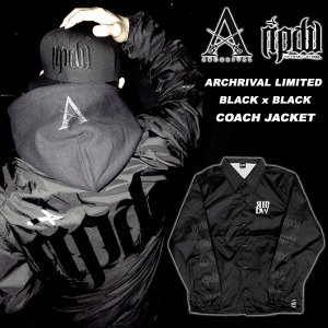 ripdw Archrival x RIPDW Limited BLACK OUT NYLON COACH JACKET 別注 コーチジャケット 黒 x 黒 リップ デザイン ワークス archrival