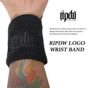 ripdw RIPDW LOGO WRIST BAND BLACK ロゴ リストバンド ブラック リップデザインワークス|archrival