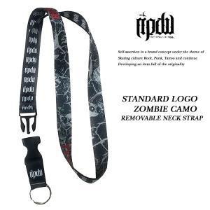 ripdw STANDARD LOGO ZOMBIE CAMO REMOVABLE NECK STRAP ネックピース ネックストラップ リップデザインワークス|archrival