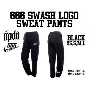 ripdw 666 SWASH SWEAT PANTS 666 スウォッシュ スエット パンツ ブラック リップ デザイン ワークス|archrival