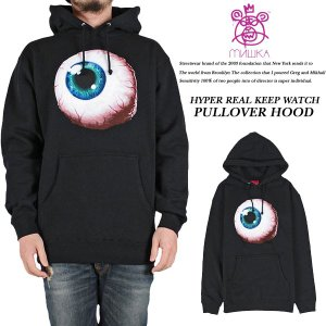 HYPER REAL KEEP WATCH PULLOVER HOOD BLACK|archrival