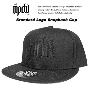 ripdw Standard Logo Snapback Cap Black x Black スタンダード ロゴ スナップバック キャップ ブラック x ブラック リップデザインワークス|archrival
