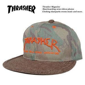 Thrasher GONZ LOGO ゴンズ ロゴ 迷彩 カモ ツイル x ツイード CAP キャップ CAMO/BRN スラッシャー|archrival