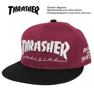 Thrasher MAG LOGO SNAPBACK CAP BURGUNDY x BLACK マグ ロゴ スナップバック キャップ バーガンディ x ブラック エンジ x 黒 スラッシャー|archrival
