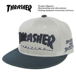 Thrasher MAG LOGO SNAPBACK CAP GRAY x NAVY マグ ロゴ スナップバック キャップ グレー x ネイビー 灰 x 紺 スラッシャー|archrival