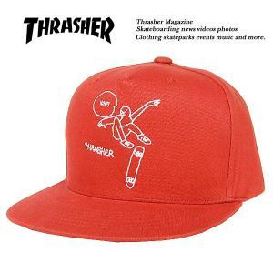 Thrasher GONZ ART SNAPBACK CAP  ORANGE  ゴンズ アート スナップバック キャップ オレンジ 橙 スラッシャー|archrival