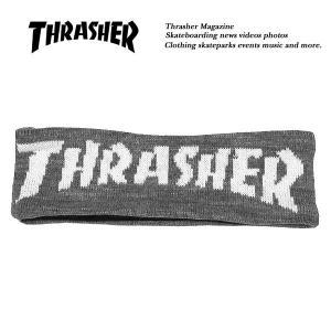 Thrasher MAG LOGO JACQUARD HAIR BAND GRAY マグ ロゴ ジャガード ヘアバンド 裏地フリース グレー 灰 スラッシャー|archrival