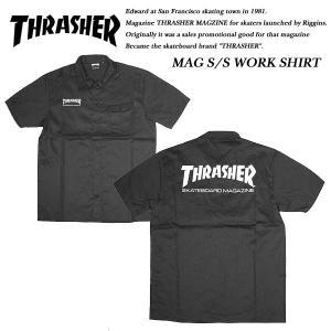 THRASHER SHORT SLEEVE WORK SHIRT BLACK 半袖 ワークシャツ ブラック 黒 スラッシャー|archrival