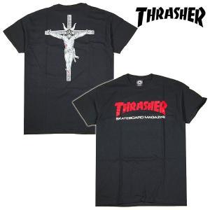 Thrasher RESURRECTION T-SHIRT Tシャツ BLACK ブラック 黒 スラッシャー|archrival