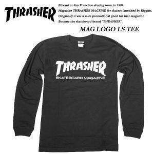 THRASHER MAG LOGO L/S TEE BLACK|archrival
