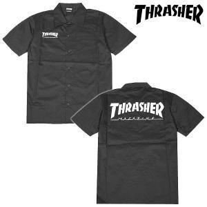 Thrasher Short Sleeve Work Shirt 半袖 ワークシャツ BLACK ブラック スラッシャー|archrival