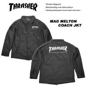 Thrasher MAG LOGO MELTON COACH JACKET BLACK マグ ロゴ メルトン コーチ ジャケット ブラック 黒 スラッシャー archrival