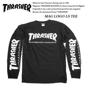 THRASHER MAG SLEEVE L/S TEE BLACK|archrival