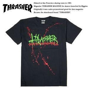 THRASHER SLASHER Tシャツ BLACK ブラック 黒 スラッシャー|archrival