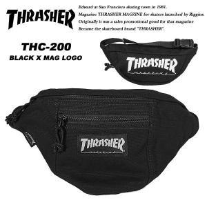 Thrasher THC200 ウエストバッグ BLACK / MAG LOGO スラッシャー|archrival