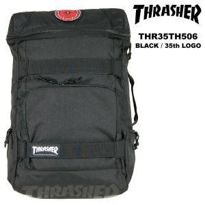 Thrasher 35周年記念モデル BackPack バックパック BLACK / 35th LOGO スラッシャー|archrival