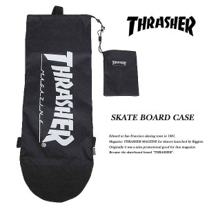 THRASHER SKATE BOARD CASE スケートボード ケース THRBC001 BLACK / WHITE スラッシャー|archrival