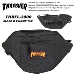 Thrasher THRFL-3900 ウエストバッグ BLACK / YELLOW TAG スラッシャー|archrival