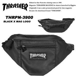 Thrasher THRpn-3900 ウエストバッグ BLACK / MAG LOGO スラッシャー|archrival