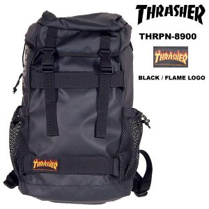 Thrasher THRPN-8900 BackPack バックパック BLACK / FLAME LOGO スラッシャー|archrival