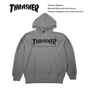 THRASHER MAG HOODIE HEATHER GRAY|archrival
