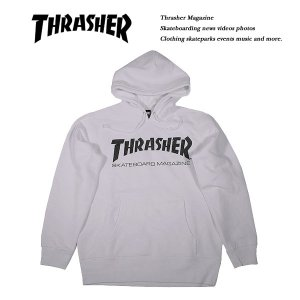THRASHER MAG HOODIE WHITE|archrival