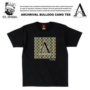 【t_shodan】ARCHRIVAL x BULLDOG CAMO COLLABO TEE BLACK アーチライバル x ブルドッグカモ柄 コラボ Tシャツ ブラック 【ティーシダン】 archrival