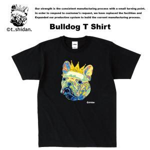 【t_shodan】BULLDOG TEE BLACK ブルドッグ Tシャツ ブラック 【ティーシダン】 archrival