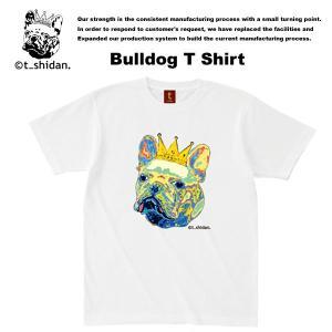 【t_shodan】BULLDOG TEE WHITE ブルドッグ Tシャツ ホワイト 【ティーシダン】 archrival