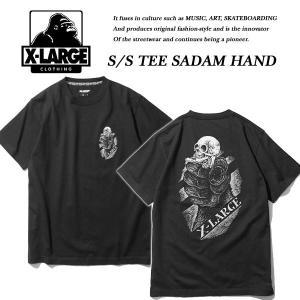 X-Large S/S TEE SADAM HAND BLACK サダム ハンド Tシャツ ブラック 黒 エキストララージ|archrival