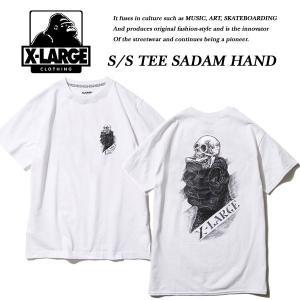 X-Large S/S TEE SADAM HAND WHITE サダム ハンド Tシャツ ホワイト 白 エキストララージ|archrival