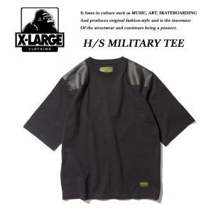 X-Large H/S MILITARY TEE BLACK ミリタリー Tシャツ ブラック 黒 エキストララージ|archrival