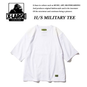 X-Large H/S MILITARY TEE WHITE ミリタリー Tシャツ ホワイト 白 エキストララージ|archrival