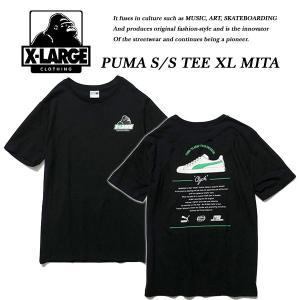 X-Large PUMA S/S TEE XL MITA  BLACK プーマ ミタ スニーカー コラボ Tシャツ ブラック 黒 エキストララージ|archrival