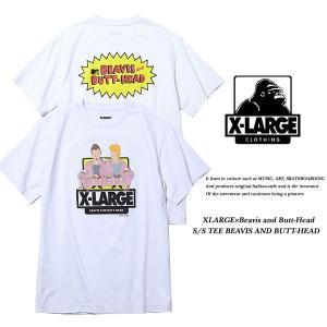 X-Large XLARGE×Beavis and Butt-Head S/S TEE BEAVIS AND BUTT-HEAD WHITE/ ビーバス&バットヘッド ホワイト 白 エキストララージ|archrival