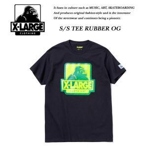 X-LARGE S/S TEE RUBBER OG BLACK ブラック 黒 エキストララージ|archrival