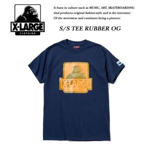 X-LARGE S/S TEE RUBBER OG NAVY ネイビー 紺 エキストララージ|archrival