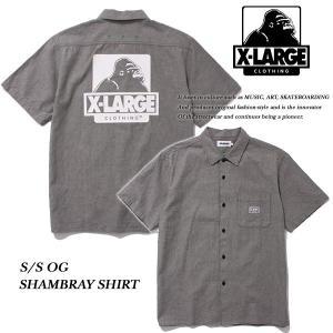 X-LARGE S/S OG CHAMBRAY SHIRT BLACK オージー シャンブレー 半袖 シャツ ブラック 黒 エキストララージ|archrival